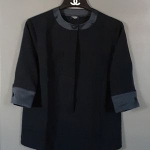 CHANEL BLACK BLOUSE small